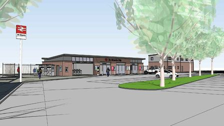 An artist's impression of the Ridgmont Road entrance, after the works are finished. Picture: Thamesl