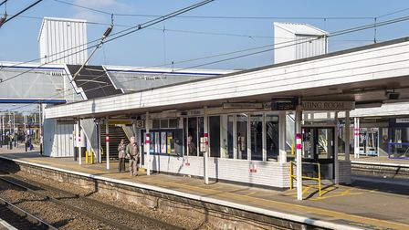 This waiting room on platform two/three will be demolished and rebuilt. Picture: Peter Alvey