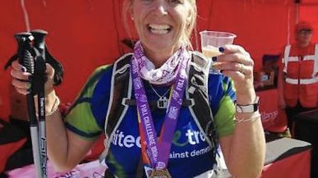 Jenny Clark from St Albans completed the Jurassic Coast Challenge. Picture: Razzberry Panda