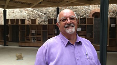 Stephen de Silva, chair of the interpretation committee for St Albans Cathedral's new welcome centre