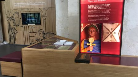 St Albans Cathedral's new Power of Pilgrimage exhibition. Picture: Anne Suslak