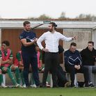 Biggleswade Town manager Lee Allinson on the touchline. Picture: DANNY LOO