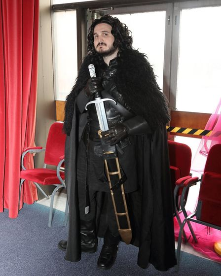 St Albans Comic-Con 2019: Steve Gunnell from Royston as Jon Snow from Game of Thrones.