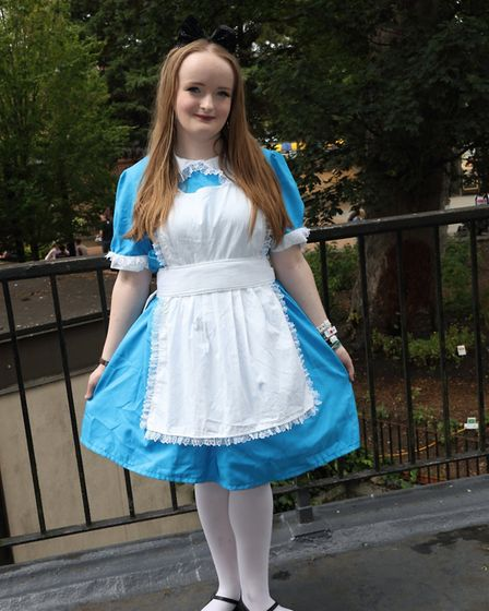 St Albans Comic-Con 2019: Lily Lesh from Bushey as Alice in Wonderland.