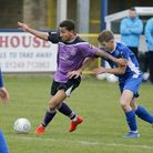 Zane Banton broke his leg in the game against Chippenham Town. Picture: LEIGH PAGE