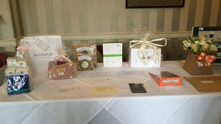Raffle prizes were donated by local companies and people for the evening in tribute to Glen Shorey.