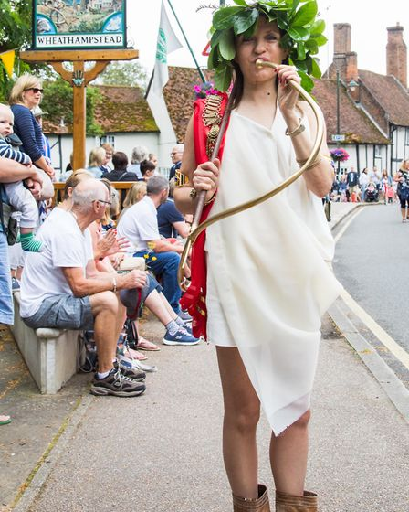 Cllr Annie Brewster at the Wheathampstead Village Weekend 2019. Picture: Judith Parry