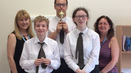 Students from Melbourn Village College have been awarded an 'Oscar' for a film they made earlier thi