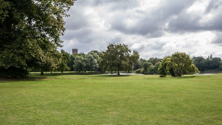 Police were called to Verulamium Park last night after receiving reports of a man with an axe.