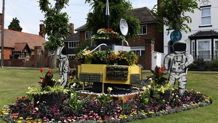 The launch of this year's Huntingdon in Bloom, celebrating 50 years since the moon landings. Picture