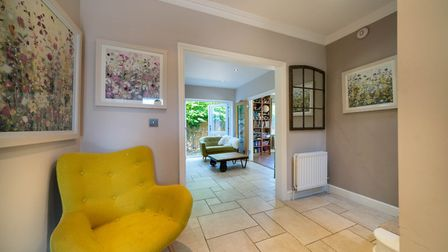 A bright entrance hall leads into the open plan kitchen/diner. Picture: Bradford & Howley