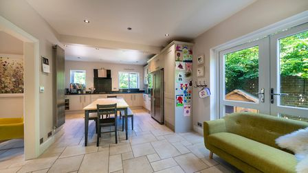 Doors from the kitchen/diner open out to the rear garden. Picture: Bradford & Howley