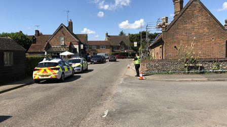 Flamstead High Street has become a murder investigation scene following the death of a woman on Satu