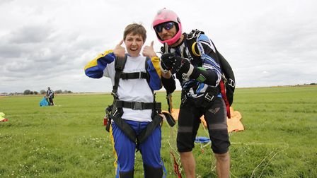 Anastacia Aldrich completed a skydive for charity. Picture: CONTRIBUTED
