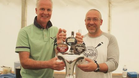 Beer was very popular at this year's St Neots Regatta