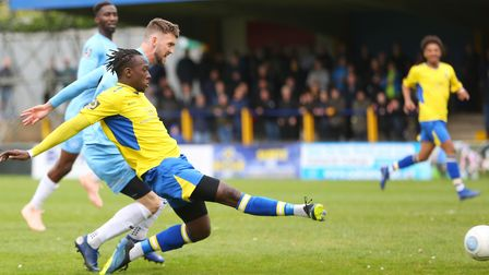 David Moyo has left St Albans City and joined Scottish Premiership outfit Hamilton Academical. Pictu