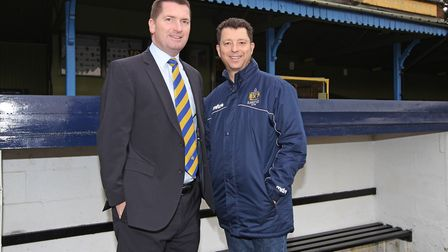St Albans City owners John McGowan and Lawrence Levy. Picture: DANNY LOO