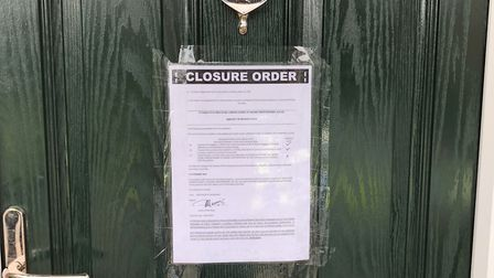 A flat in London Colney's Reed Close has been subject to a closure order which means nobody apart fr