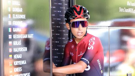 Egan Bernal of Team Ineos, the winner of the 2019 Tour de France barring a major surprise. Picture: