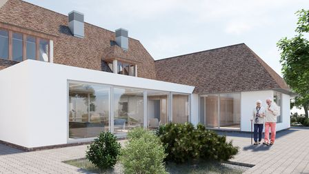 An artist's interpretation of the plans for the conservatory at Grove House hospice in St Albans. Pi