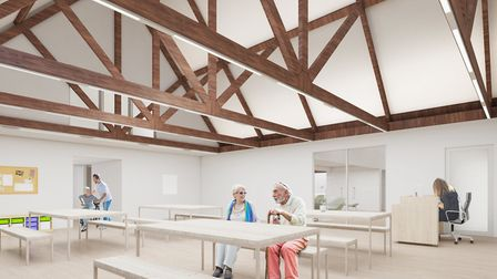 An artist's interpretation of the plans for the day room at Grove House hospice in St Albans. Pictur