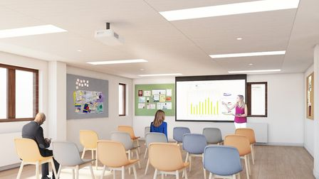 An artist's interpretation of the plans for the education suite at Grove House hospice in St Albans.