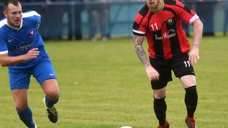 Captain Corey Kingston on the attack for Huntingdon Town. Picture: IAN CARTER