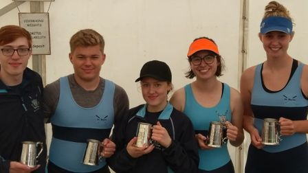 St Neots Rowing Club's Mixed 4+ crew were successful at their own regatta. Pictured are, from the le