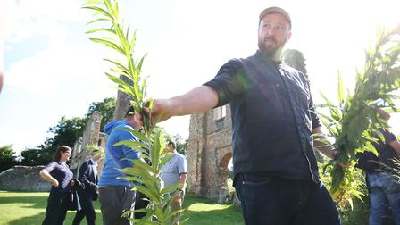 George Fredenham from The Verulam Arms on a foraging walk. Picture: DANNY LOO