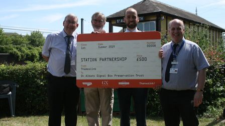 Thameslink gave St Albans Signal Box Preservation Trust £500 following the signing of the Station Pa