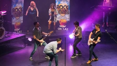 The Rock for Heroes Concert takes place at the Burgess Hall in St Ives