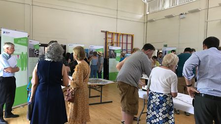 One of eight A428 Black Cat to Caxton Gibbet scheme consultation event.