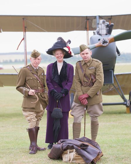 World War One reenactors at the Flying Legends Air Show 2019 at IWM Duxford. Picture: Gerry Weatherh