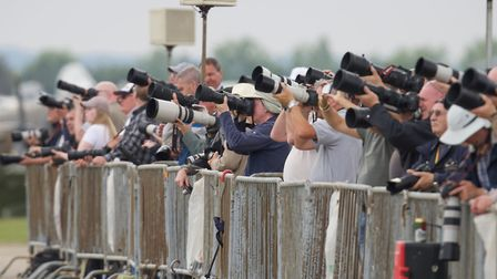 Photographers catching the airshow displays at the Flying Legends Air Show 2019 at IWM Duxford. Pict