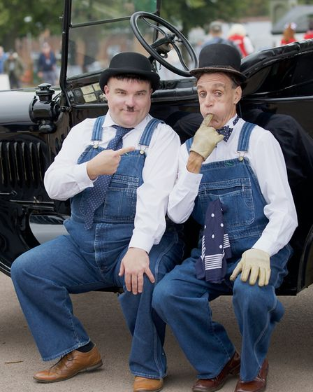 Laurel and Hardy at the Flying Legends Air Show 2019 at IWM Duxford. Picture: Gerry Weatherhead