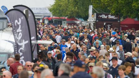 Around 29,000 people attended the Flying Legends Air Show 2019 at IWM Duxford. Picture: Gerry Weathe