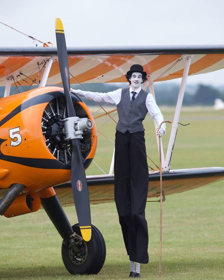 'Charlie Chaplin' at the Flying Legends Air Show 2019 at IWM Duxford. Picture: Gerry Weatherhead