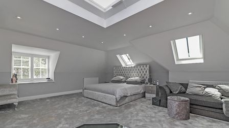 The master bedroom, plus dressing room and en suite can be found on the second floor. Picture: Cassi