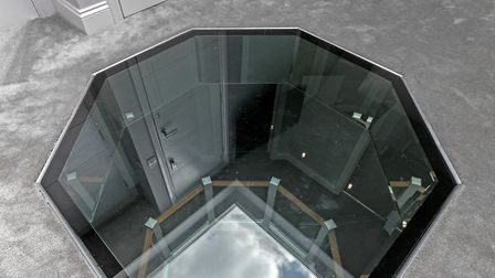 The unique view down from the master bedroom. Picture: Cassidy & Tate