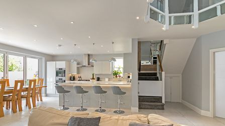 The open plan kitchen/dining/family room is at the heart of the home. Picture: Cassidy & Tate