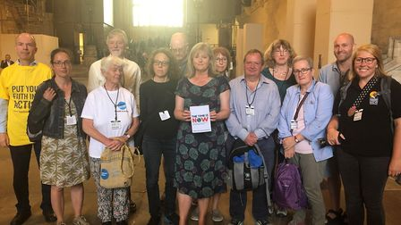 St Albans MP Anne Main met with climate change activists as part of 'The Time is Now' campaign. Pict