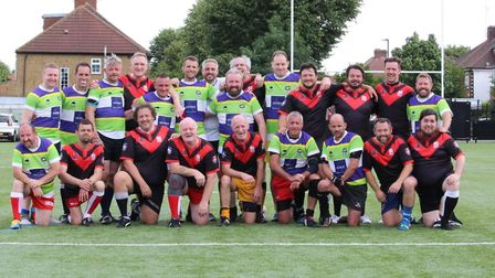 St Albans Centurions' masters teamed with others to take on the South London Silverbacks prior to Lo