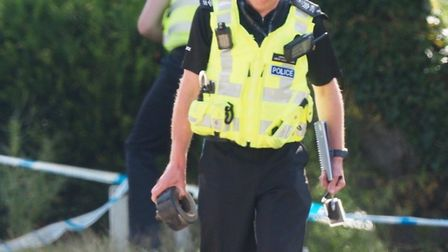 A suspected landmine was discovered in London Colney. Picture: John Andrews
