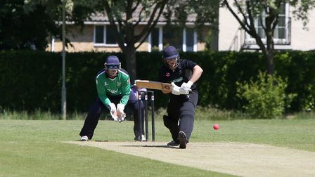 James Latham was in majestic form with the bat for Harpenden against Bishops Stortford. Picture: MEL