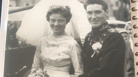 Jean and Joe on their wedding day on August 1959