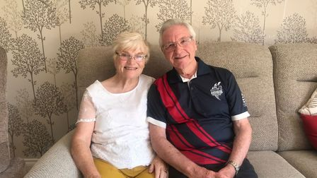 Jean and Joe in their home in St Neots