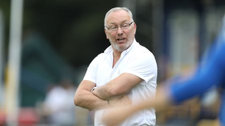 Manager of St Albans Ian Allinson during St Albans City vs Stevenage, Friendly Match Football at Cla