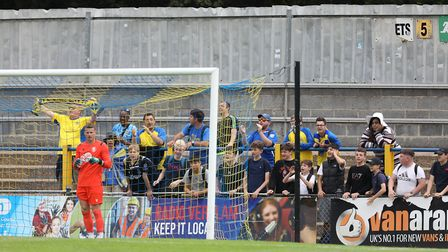 St Albans fans during St Albans City vs Stevenage, Friendly Match Football at Clarence Park on 13th