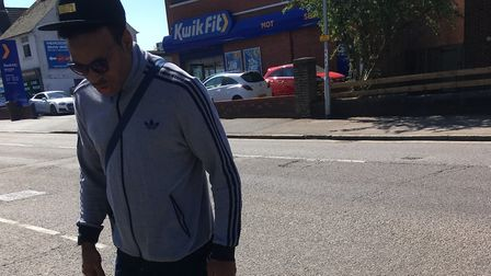 Do you recognise this man? Herts police are looking for him after dogs were kicked in St Albans. Pic
