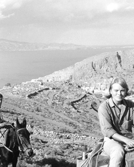 Norwegian expatriate Marianne Jensen (also known as Ihlen) (right fore), Canadian poet, author, and